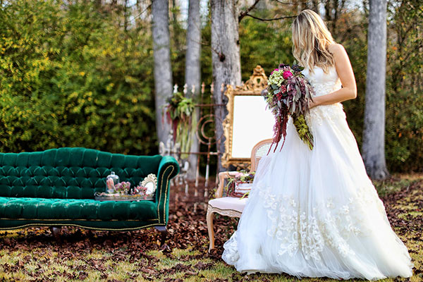 Wedding Inspiration: Dreamy Jewel Tones with Vintage Touches